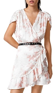 AllSaints Zini Evolution Leaf Print Dress