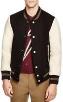 Marc Jacobs Brushed Felt Varsity Bomber Jacket