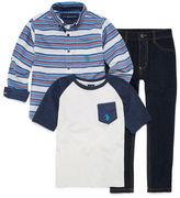 U.S. Polo Assn. 3-pc. Stripe Pant Set Boys