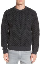 Original Penguin Lambswool Zigzag Raglan Crew Neck Sweater