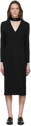 Gucci Black Patent Collar Long Sleeve Dress