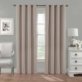 Eclipse Curtains Eclipse 14380052108LIN Nadya Solid 52-Inch by 108-Inch Single Curtain Thermalayer, Linen