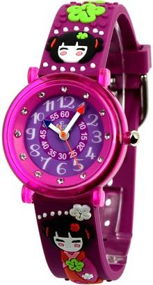 Baby Watch Girls Watch 606023KyotoEducationalPurple Dial - Purple Plastic Strap