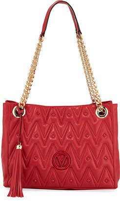 Mario Valentino Valentino By Luisa Studded Quilted Leather Shoulder Tote Bag