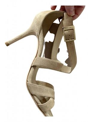 Jimmy Choo Beige Suede Sandals