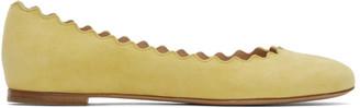 Chloé Yellow Suede Lauren Flats