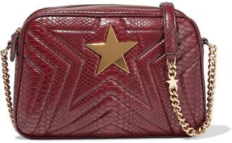 Stella McCartney Stella Star Quilted Faux Snake-effect Leather Shoulder Bag
