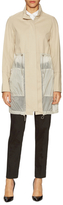 Elie Tahari Kendra Cotton Quilt Pocket Coat
