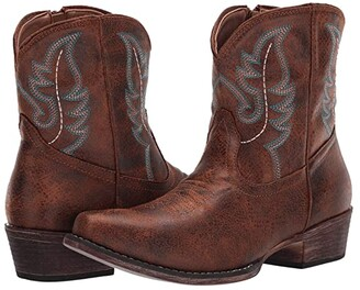 Roper Shay (Cognac Faux Leather) Cowboy Boots