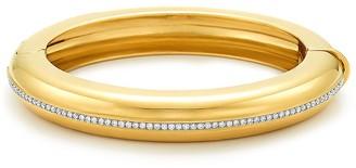 Fred Leighton 18kt yellow gold Signed diamond line bangle