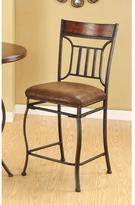 Acme Tavio Fabric Counter Height Chair in Black Gold Brush (Set of 2)