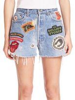 MADEWORN Patch Denim Shorts