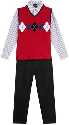 Izod Boys 4-7 Sweater Vest 3-Piece Set