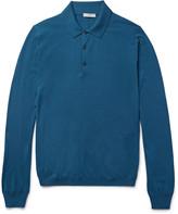 Boglioli - Slim-fit Knitted Wool Polo Shirt