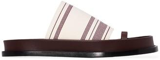 Jil Sander Woven Striped Sandals