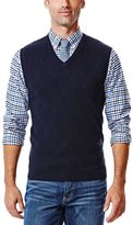 Haggar Men's Textured V-Neck Sweater Vest