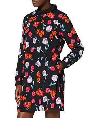 Yumi Poppy Tunic With Button And Collar Detail