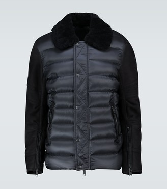 Moncler Mongioie suede-paneled jacket