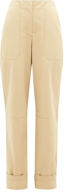 Thumbnail for your product : Roksanda Lorin Bi-colour Cotton-twill Chinos - Beige