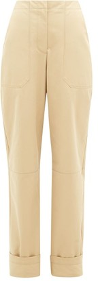 Roksanda Lorin Bi-colour Cotton-twill Chinos - Beige