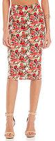 Gianni Bini Bethany High Waisted Printed Pencil Skirt