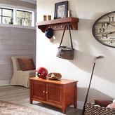Asstd National Brand Cottage Shelf Coat Hook with Cabinet Bench