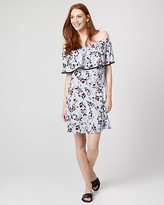 Le Château Floral Print Jersey Knit Off-the-Shoulder Dress