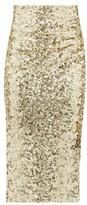 Dolce & Gabbana High-rise Sequinned Pencil Skirt - Womens - Gold