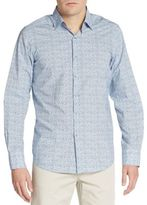 Saks Fifth Avenue Regular-Fit Mixed Dot Print Sportshirt