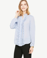 Ann Taylor Ruffled Button Down Blouse