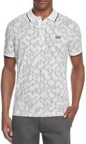 BOSS GREEN Paddy 2 Geometric Print Slim Fit Polo Shirt