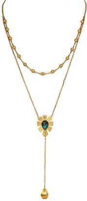 Christina Greene Unique Mystique Layered Lariat Necklace Turquoise