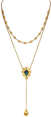 Mystique Unique Layered Lariat Necklace Turquoise
