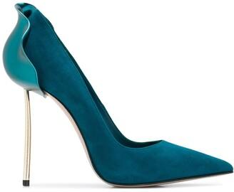 Le Silla Petalo suede metal-heel pumps