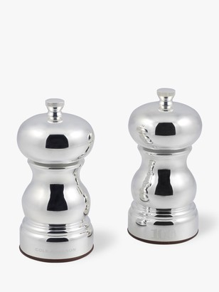 Cole & Mason Knightsbridge Stainless Steel Salt and Pepper Mill Set, Silver