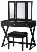 Linon X-Base Vanity Set