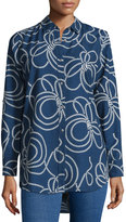 MiH Jeans Rope-Print Simple Shirt, Indigo