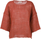Masscob scoop neck knitted top - women - Linen/Flax/Polyamide/Viscose - 42