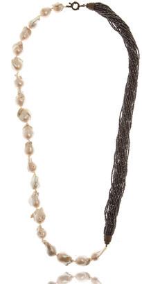 """MCL by Matthew Campbell Laurenza Half Baroque Pearl & Spinel Necklace, 34""""L"""