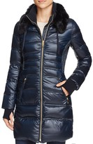 Via Spiga Faux Fur-Trim Down Coat