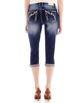 JCPenney LOVE INDIGO Love Indigo Embroidered Angled Back Pocket Capris