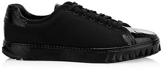 Salvatore Ferragamo Mixed Media Cube Sneakers