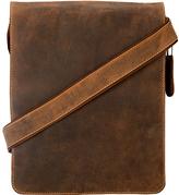 Visconti Tan Oiled Leather Messenger Bag