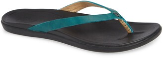 OluKai 'Ho Opio' Leather Flip Flop