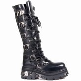 New Rock Men's Metallic Leather Boots M.272-S1