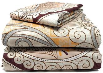 Tache Home Fashion Tache Duvet Covers, Zipper and Ties, Maroon Paisley, California King