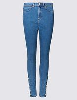 Per Una Ankle Button Skinny Leg Jeans