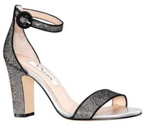 Nina Sianna High Block Heel Sandals Women's Shoes