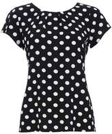 Wallis Black Polka Dot Shell Top