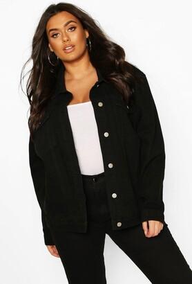 boohoo Plus Oversized Denim Jacket